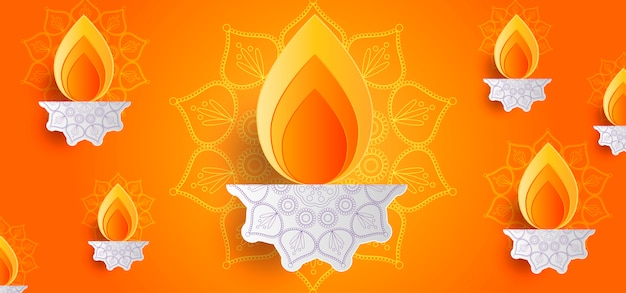 Diwali hintergrund Premium Vektoren