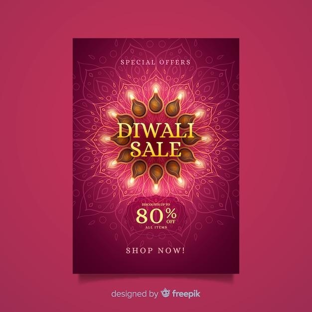 Diwali sonderangebot plakat vorlage Kostenlosen Vektoren