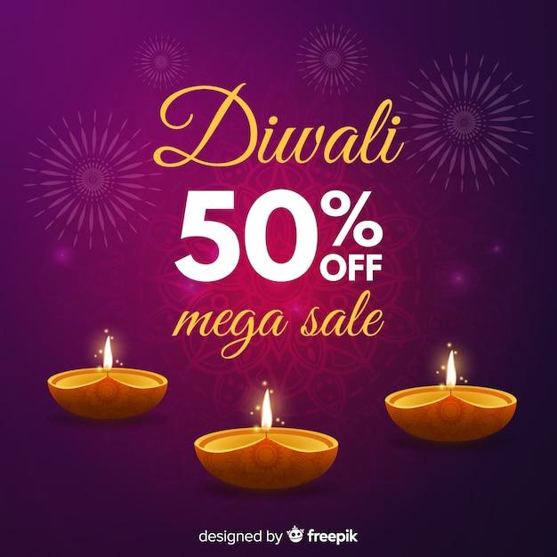 Diwali verkauf hintergrund Kostenlosen Vektoren