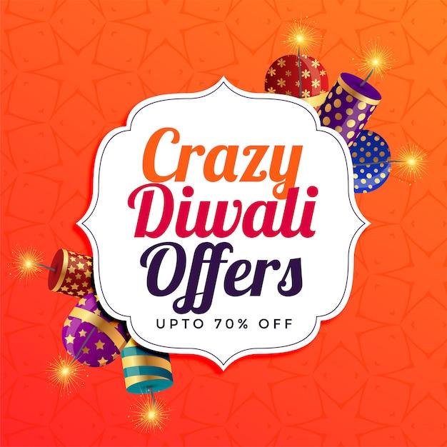 Diwali-verkaufshintergrund mit crackern Kostenlosen Vektoren