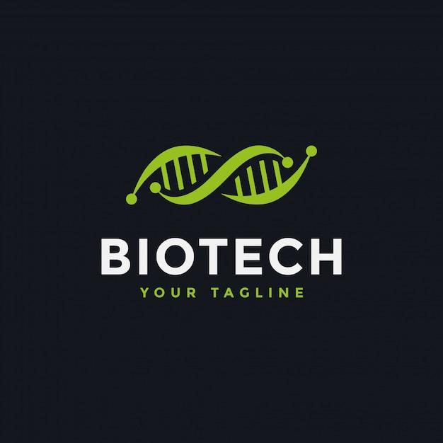 Dna genetische logo-design-vorlage Premium Vektoren