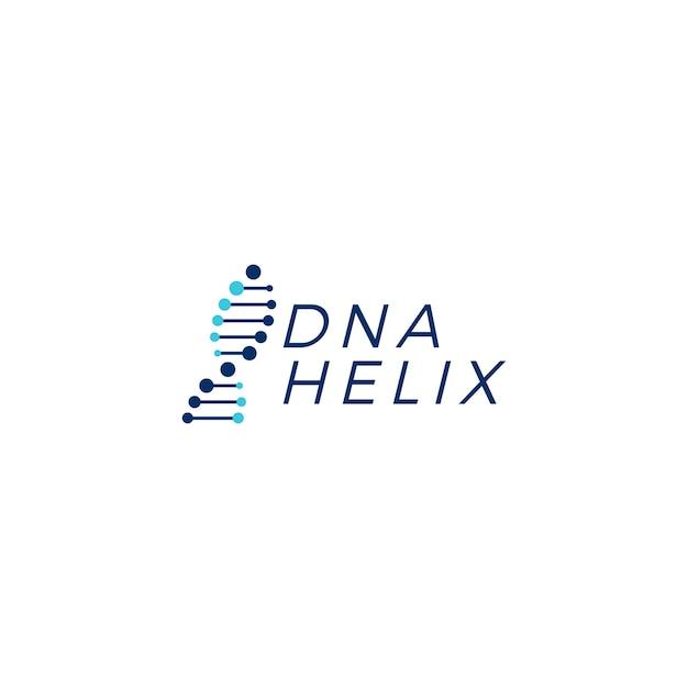 Dna-helixstrangvektor-logoelementillustration Premium Vektoren