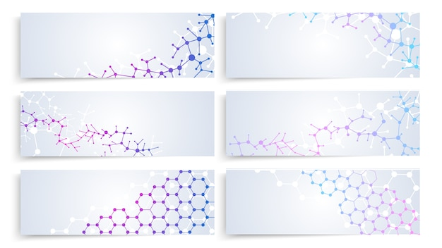 Dna-molekülstruktur Premium Vektoren