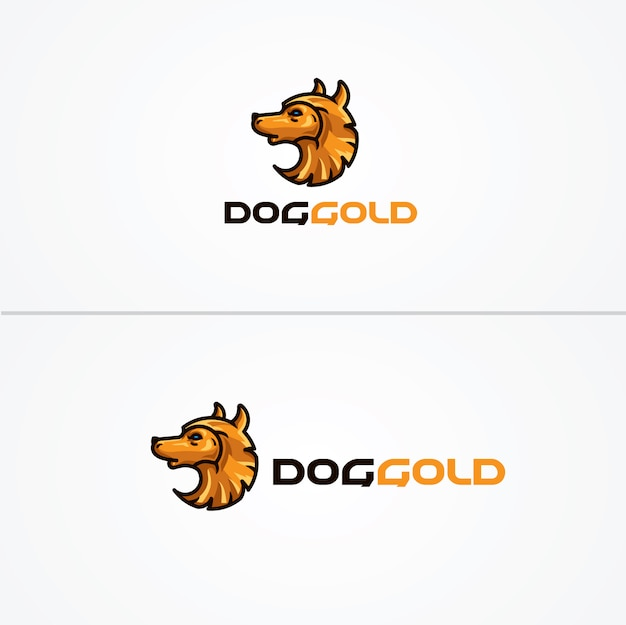 Doggold logo vorlage Premium Vektoren