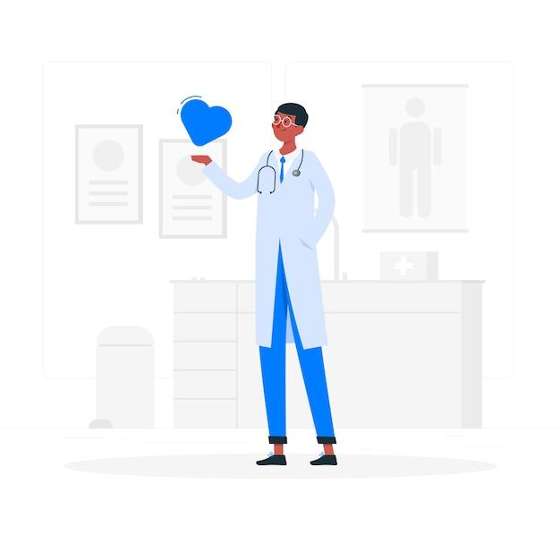 Doktor konzeptillustration Kostenlosen Vektoren