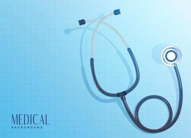 Doktorstethoskopgegenstand auf blauem hintergrund Kostenlosen Vektoren