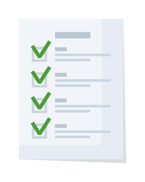 Dokumentcheckliste oder antragsformular mit häkchen Premium Vektoren