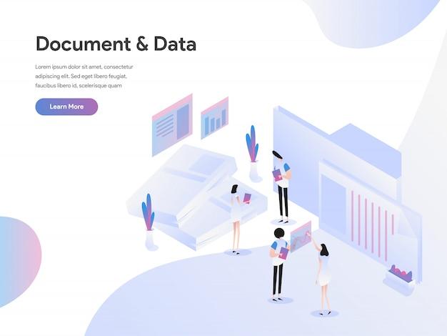 Dokumente und daten illustration konzept Premium Vektoren