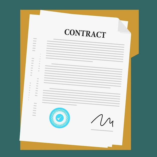 Dokumentvereinbarungsvektor Premium Vektoren