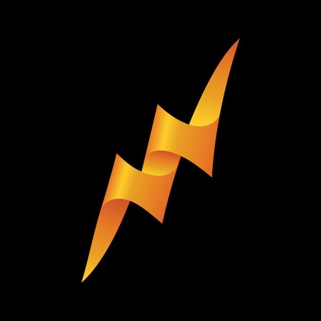 Donner-symbol vektor-logo-vorlage Premium Vektoren
