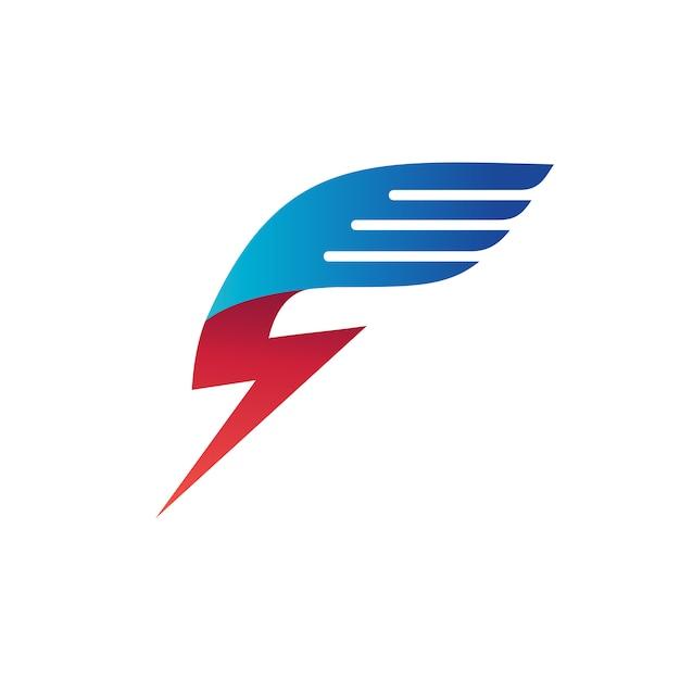 Donnerflügel-logo-vektor Premium Vektoren