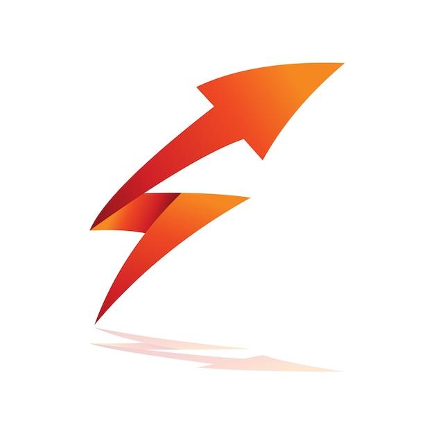Donnerpfeil mit initial s-logo Premium Vektoren