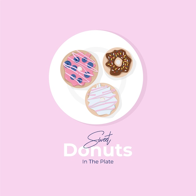 Donuts abbildung Premium Vektoren