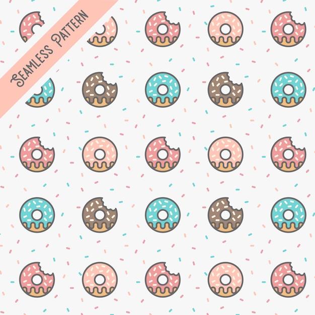 Donuts nahtlose musterillustration vektor Premium Vektoren