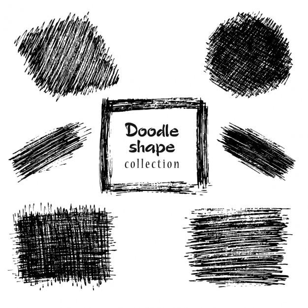 Doodle shape kollektion Kostenlosen Vektoren
