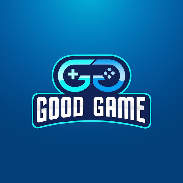 Doppelbuchstabe g gaming logo design Premium Vektoren