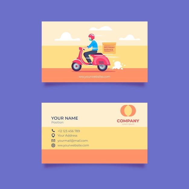 Doppelseitige visitenkartenvorlage Kostenlosen Vektoren