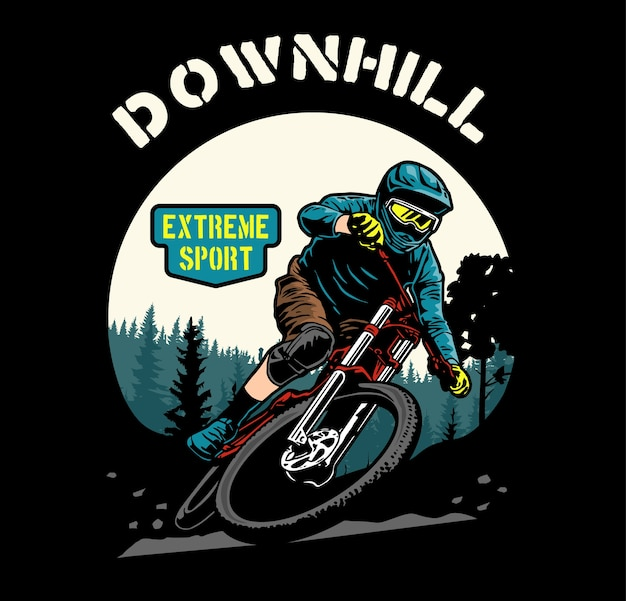 Downhill-bike Premium Vektoren