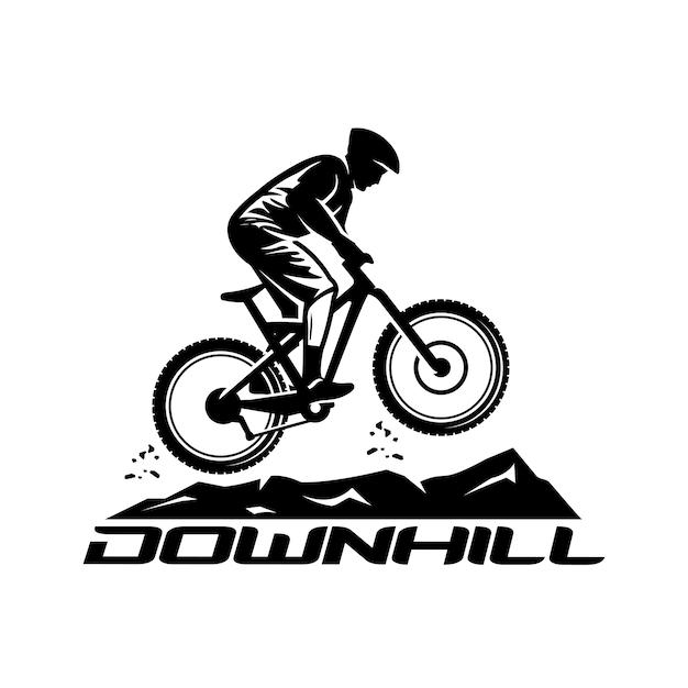 Downhill-vektor-logo-vorlage Premium Vektoren