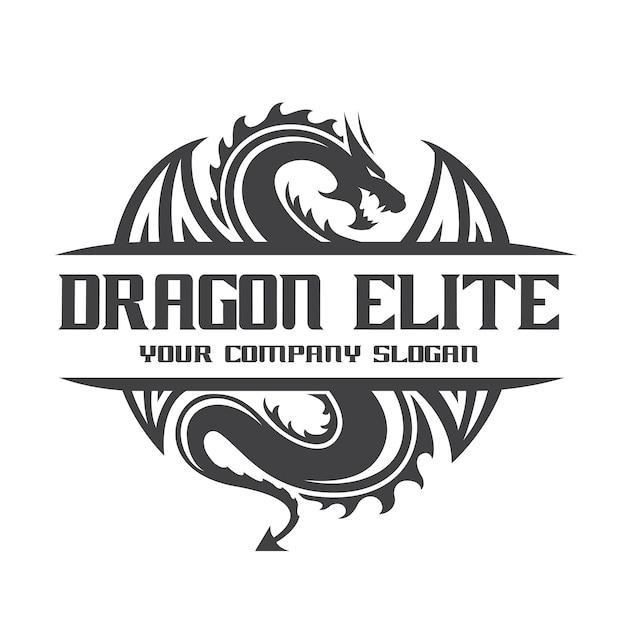 drachen logo vorlage download der premium vektor