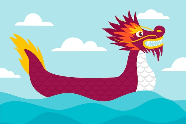 Drachenboote zongzi tapete Kostenlosen Vektoren