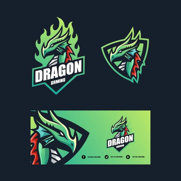 Dragon concept illustration vektor entwurfsvorlage Premium Vektoren
