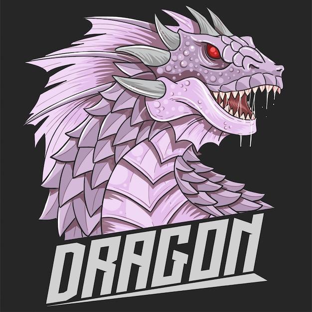Dragon head beast logo vector Premium Vektoren