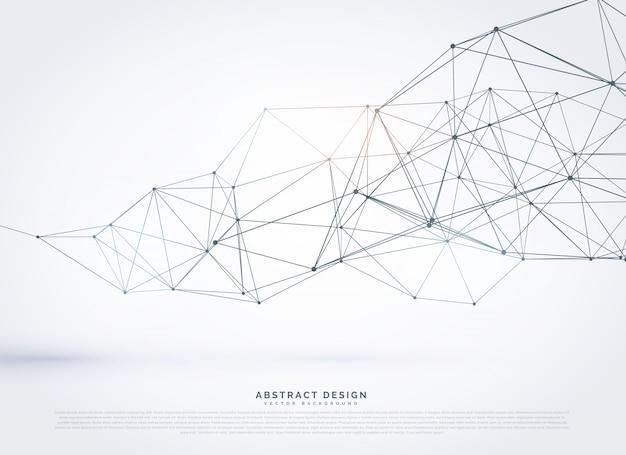 Drahtgitter polygonalnetz hintergrund design Kostenlosen Vektoren