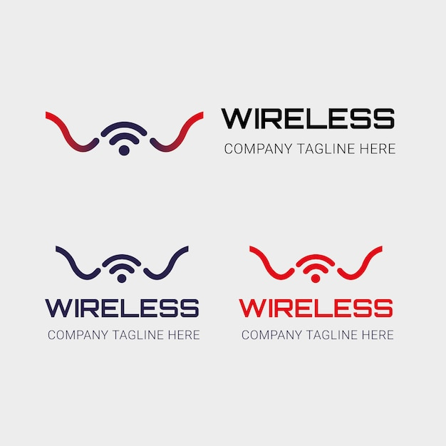 Drahtloses logo Premium Vektoren