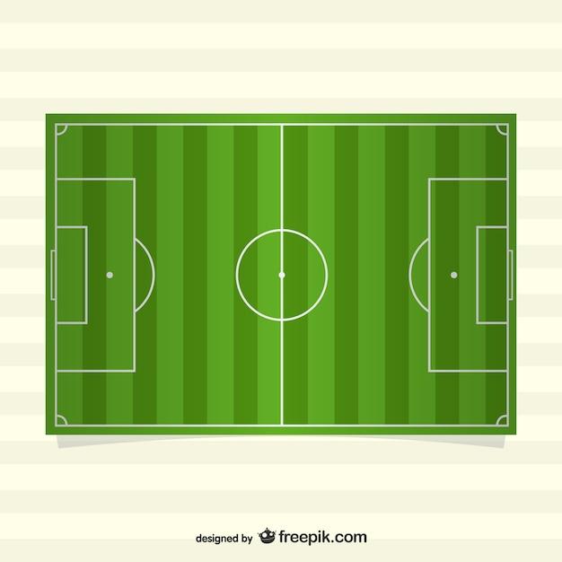 Draufsicht von vektor-fußballfeld Kostenlosen Vektoren
