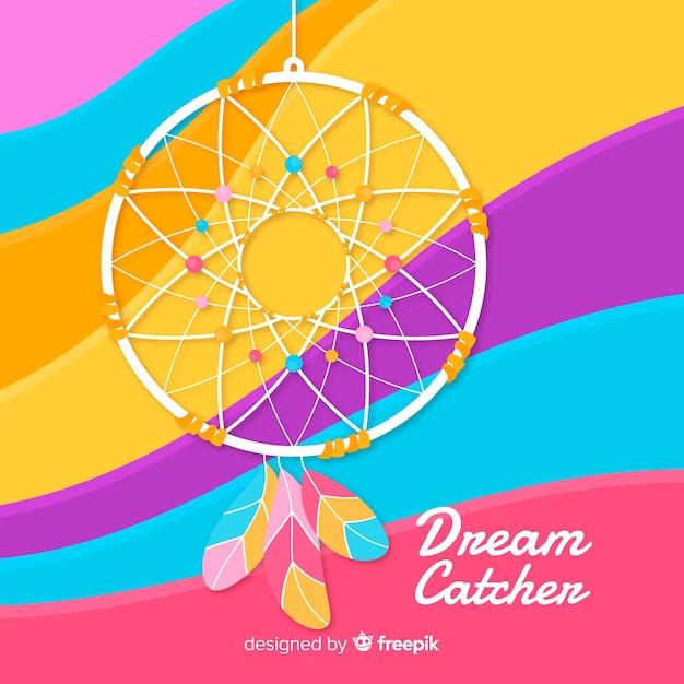 Dreamcatcher-hintergrund Kostenlosen Vektoren