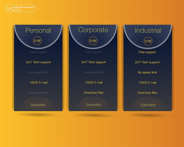 Drei banner Premium Vektoren