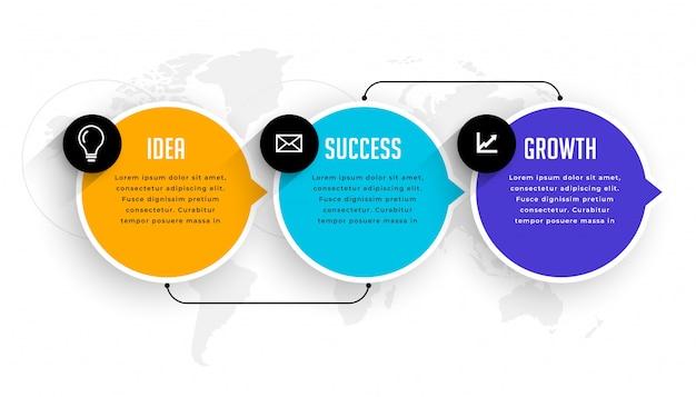 Drei optionen schritte infografik moderne vorlage Kostenlosen Vektoren