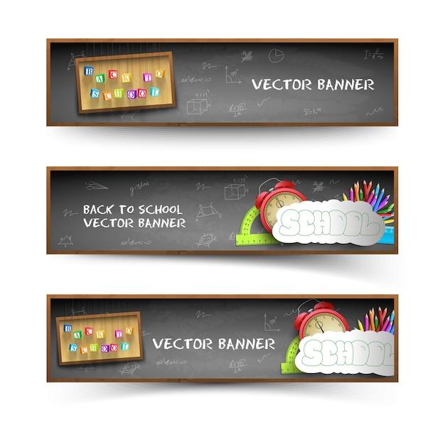 Drei tafel banner set Kostenlosen Vektoren