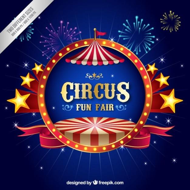 Dreidimensionale zirkus hintergrund Premium Vektoren