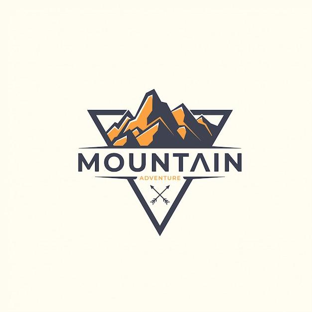 Dreieck berg logo vorlage Premium Vektoren