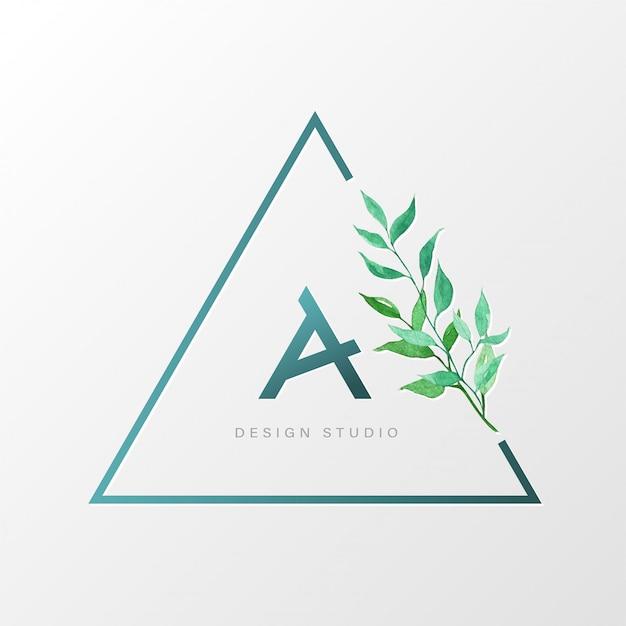 Dreieck natürliche logo-design-vorlage für branding, corporate identity. Kostenlosen Vektoren