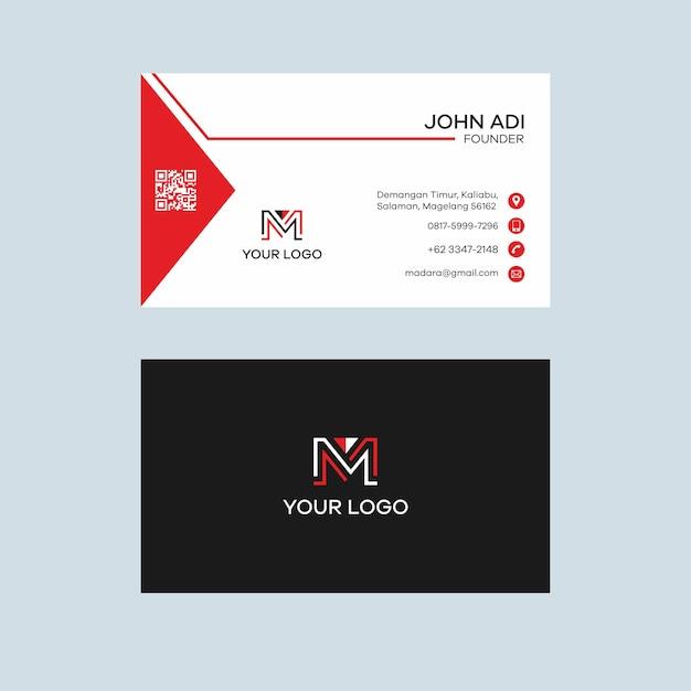 Dreieck Rot Visitenkarte Design Premium Vektor