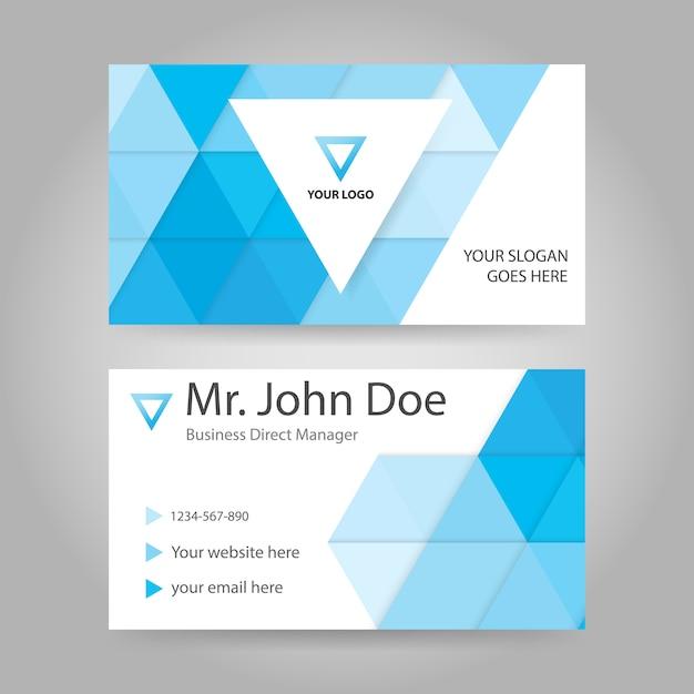 Dreieck Visitenkarten Vorlage Design Premium Vektor