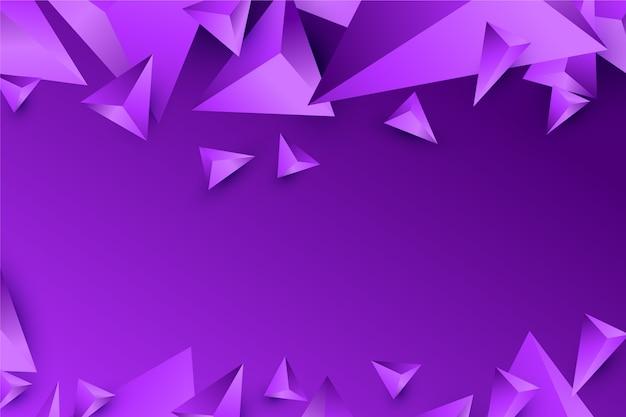 Dreieckdesign des hintergrundes 3d in den klaren violetten tönen Kostenlosen Vektoren