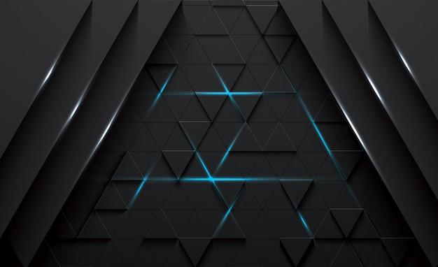 Dreieckiger abstrakter schwarzhintergrund des vektors 3d Premium Vektoren