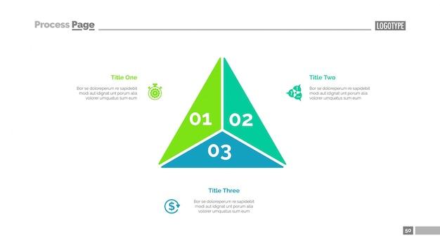Dreiecksdiagramm-vorlage Kostenlosen Vektoren