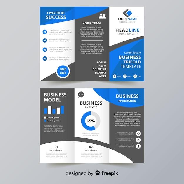 Dreifach gefaltete broschürenvorlage Kostenlosen Vektoren