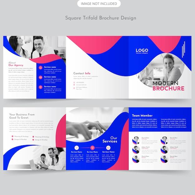 Dreifachgefaltete broschüre design Premium Vektoren