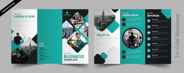 Dreifachgefaltete broschüre Premium Vektoren