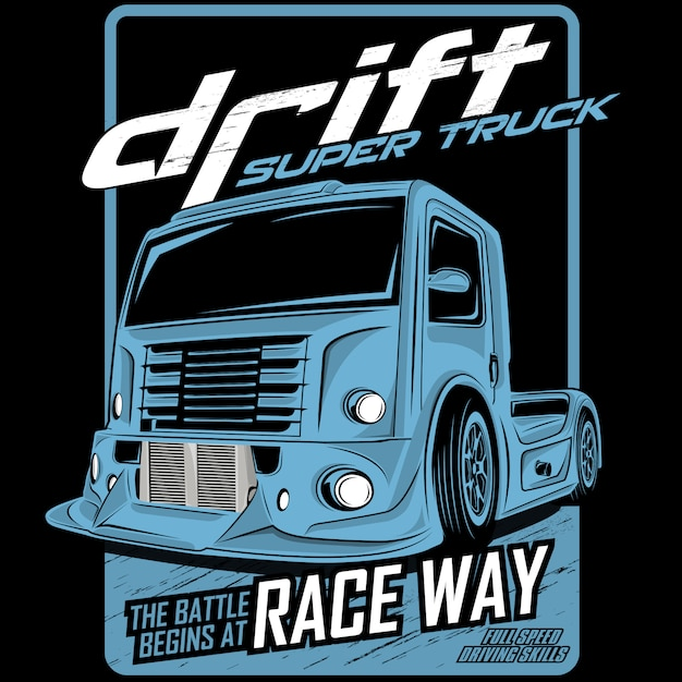 Drift super truck Premium Vektoren