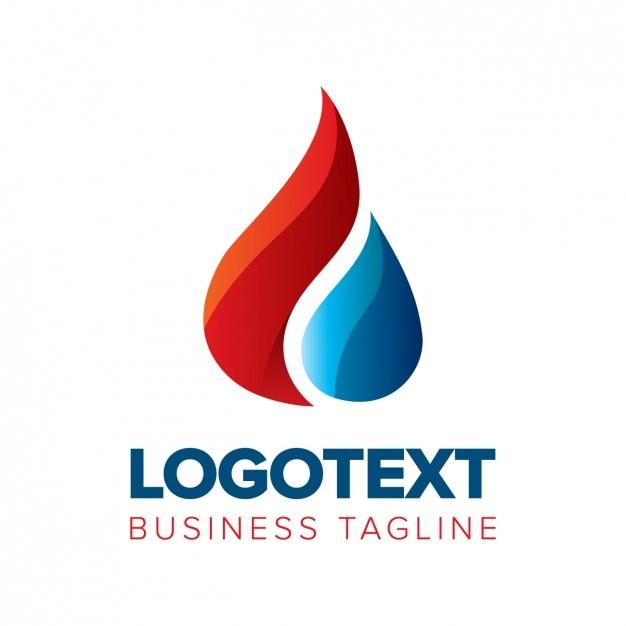 Drop-logo in glänzendem stil Kostenlosen Vektoren
