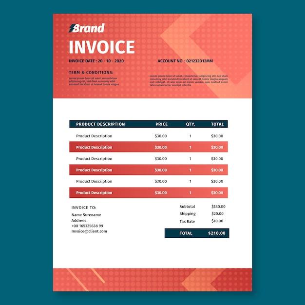 Druckvorlage für elektriker-servicerechnung Kostenlosen Vektoren