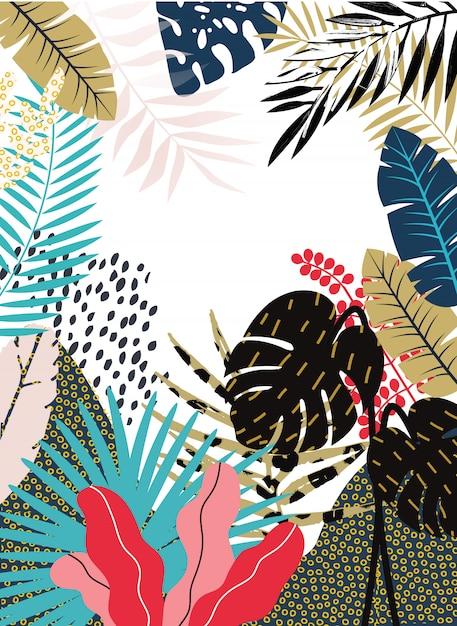 Dschungel-hintergrund Premium Vektoren