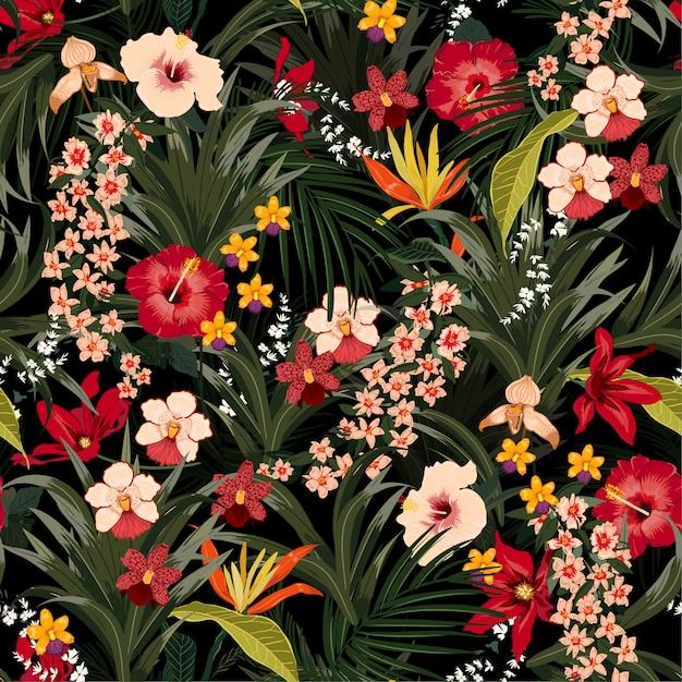 Hand Gezeichnet Pflanzen Nahtlose Muster 12